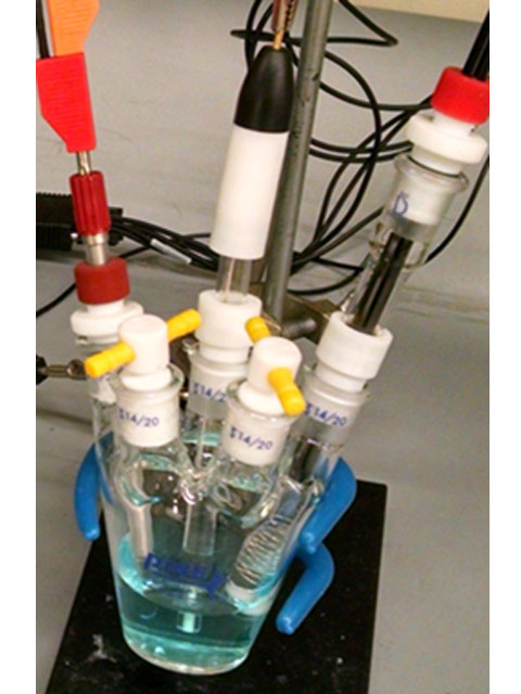 Standard Voltammetry Cell with PTFE Stoppers