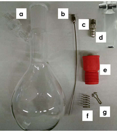 Schlenk Flask Components for Pre-saturating the Inert Gas with Solvent Vapor