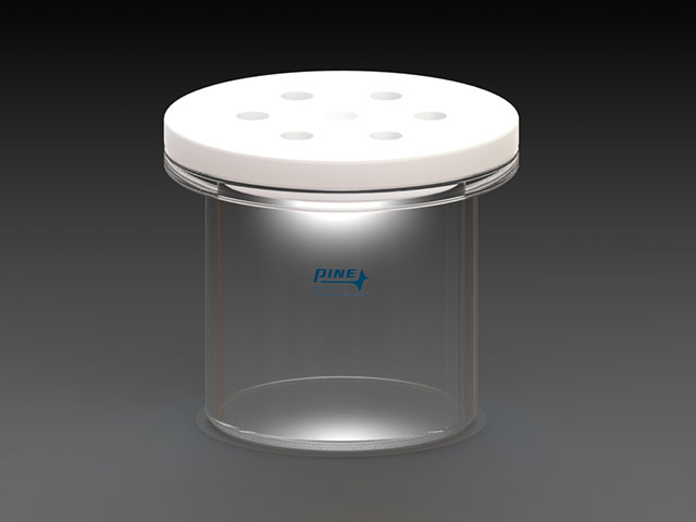 Reference electrode storage contain AKREFHUT1 which has a PTFE lid to 14/20 ports