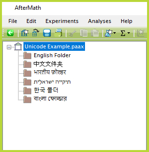 Unicode-Enabled AfterMath Folder Names