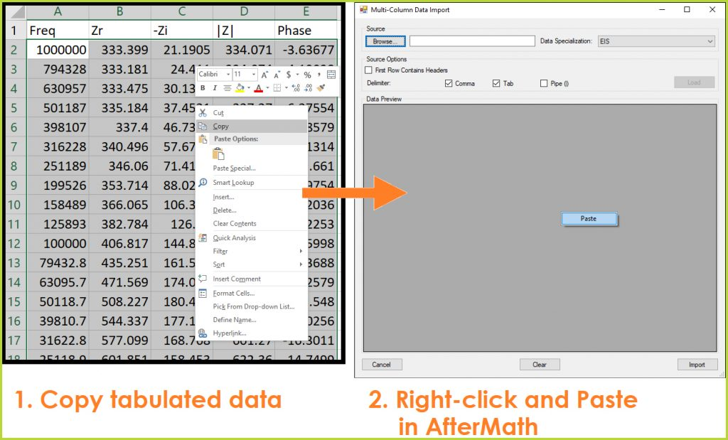 Excel tab data copying