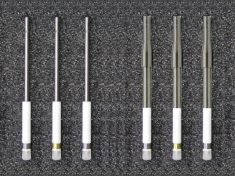 QC3 Tips fit on to AFE3M (left) and AFE3A (right) shafts