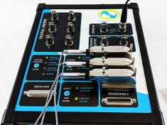 WaveNeuro Four Multichannel FSCV System three electrode with stim out active